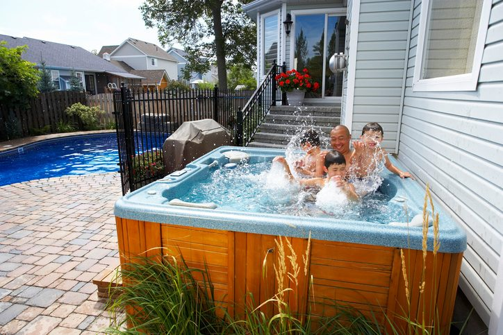 Save on Vacations in your own hot tub